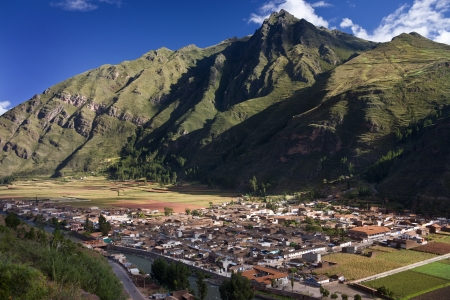 sacred valley of the incas: The town of Pisac in The Sacred Valley of the Incas in Peru