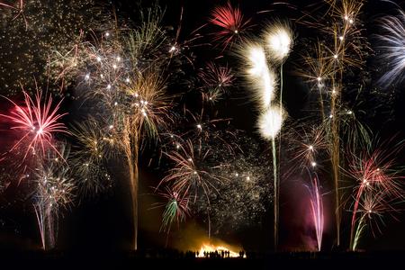 guy fawkes night: Fuochi d'artificio Archivio Fotografico