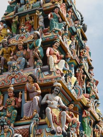 mariamman: Sri Mariamman Hindu Temple on South Bridge Road in the Chinatown District of Singapore  Stock Photo