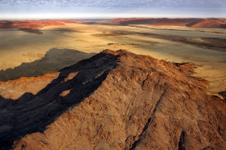 Aerial view over the Namib-nuakluft Desert near Sossusvlie in Namibia photo
