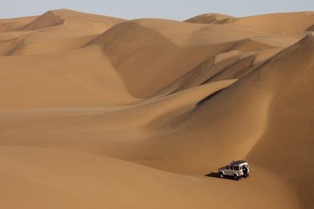 The Sand Dunes of the Namib Desert in Namibia photo