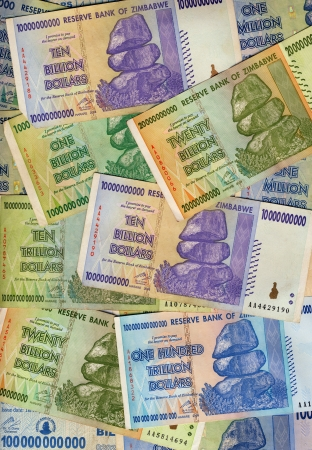 trillion: Banknotes of Zimbabwe including a banknote of one hundred trillion dollars. This banknote has the highest nominal value in history. The hyper-inflation in Zimbabwe in 2008 and 2009 broke every record.