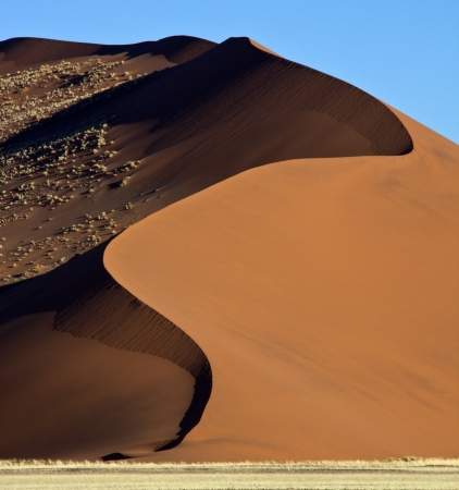 Sand dune in the Namib Desert near Sossusvlei in Namibia photo