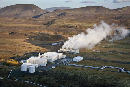 power station: Geo thermal Power Station in Iceland Stock Photo