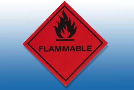 Hazard Warning Sign - Flammable substances photo