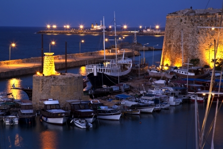 The harbor at Kyrenia - Girne - in the Turkish Republic of Northern Cyprus
