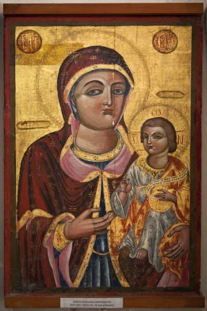 barnabas: Religious icon in St Barnabas Monastery - Apostolos Varnavas Monastery   Present buildings date from 1756  built on the original Byzantine foundations of 477AD   Built by the tomb of the Apostle Barnabas  killed in 57AD