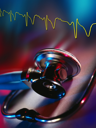 electrocardiograph: Stethoscope and Electrocardiograph