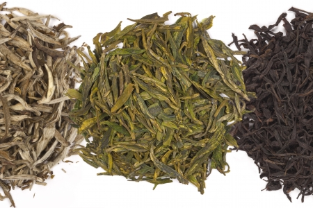 A range of Chinese Green Tea - They are  Jasmine Silver Needle, Long Jing and Mi Lan Dan Cong  photo