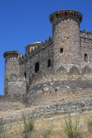 belmonte: The medieval fortress in the town of Belmonte in the La Mancha region of central Spain