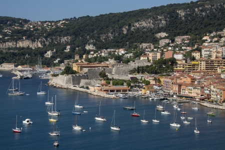 villefranche sur mer: The resort of Villefranche-sur-Mer near Nice in the South of France Stock Photo