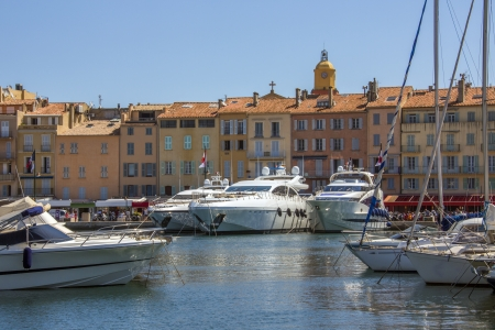 The resort of St Tropez on the Cote d Azur in the South of France