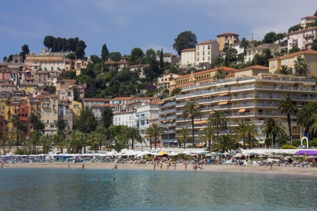 d���azur: The resort of Menton on the Cote d Azur in the South of France
