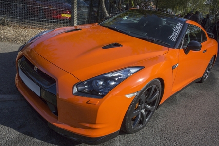 gt: The Nissan Skyline GT-R is a 4 wheel drive sports car with a twin turbo V6 engine  545BHP  Editorial
