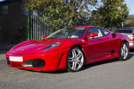 petrol powered: The Ferrari F430 sportscar is powered by a 4 3 liter V8 petrol engine  483BHP  and has a top speed of 196mph and can accelerate from 0-62mph in 4 0 seconds