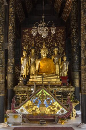 Buddha Images in the Wat Phra That Lampang Luang Buddhist Temple in Lampang near Chiang Mai in northern Thailand