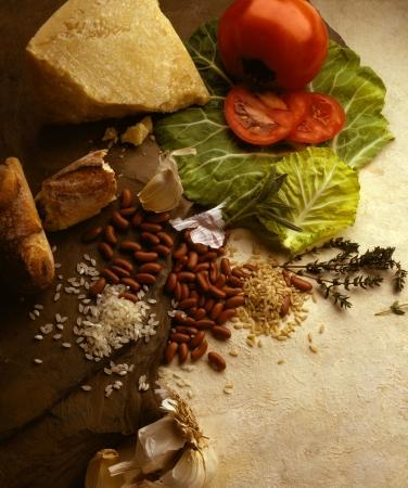 Selection of basic foodstuffs