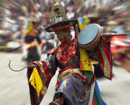 Dancer at the Paro Tsechu (Festival) in The Kingdom of Bhutan