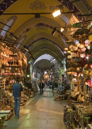 Inside the Grand Bazaar in Istanbul in Turkey