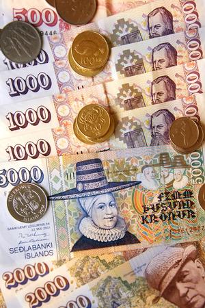 island�s: Monedas y billetes de banco island�s