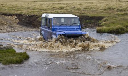 islas: Driving on a remote road in the Falkland Islands (Islas Malvinas). Editorial