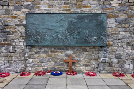 falklands war: The Falklands War Memorial in Port Stanley in The Falkland Islands (Islas Malvinas).