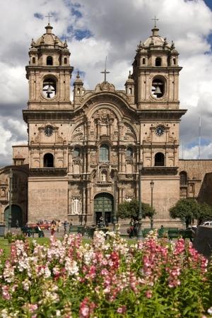 la compania: Church of Iglesia de la Compania in Plaza de Armas in Cuzco in Peru