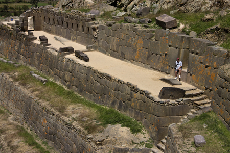 sacred valley of the incas: Inca ruins of Ollantaytambo in the Sacred Valley of the Incas in Peru. Editorial