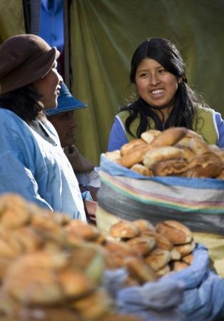 Local women on a market in the city of La Paz in Bolivia.