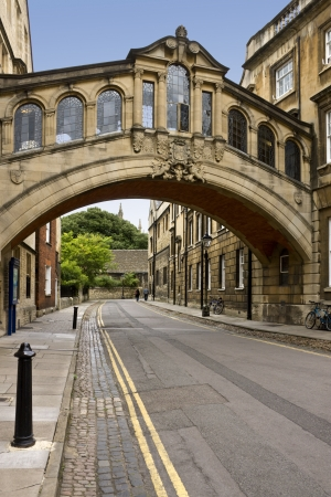 The Bridge of Sighs (copy of the original in Venice) in Oxford in England in the United Kingdom of Great Britain.