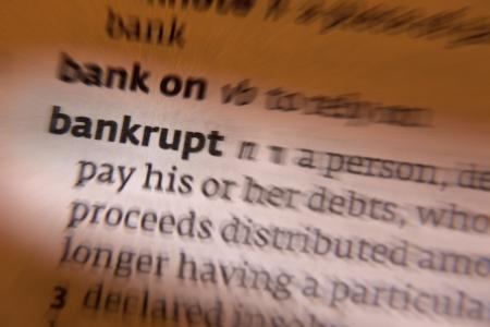 mandato judicial: La bancarrota es una situaci�n jur�dica de una persona u otra entidad que no puede pagar las deudas que le debe a los acreedores. En la mayor�a de las jurisdicciones, la quiebra es impuesta por una orden judicial, a menudo iniciado por el deudor.