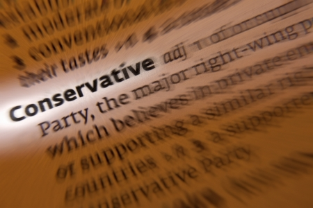conservatives: The Conservative Party is a major right-of-center British political party, holding to traditional attitudes and values and cautious about change or innovation.
