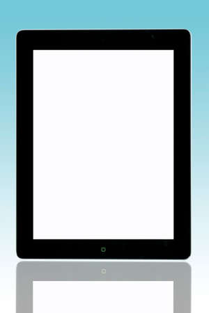 An Apple ipad2 with blank screen  add your text