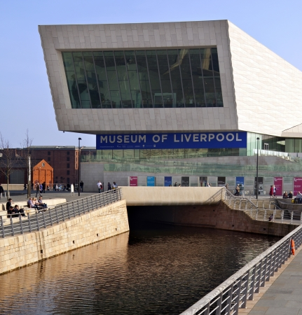 mersey: The Museum of Liverpool on the waterfront of the River Mersey in the city of Liverpool in north west England  Theis area of the city was given World Heritage Site status by UNESCO in 2004