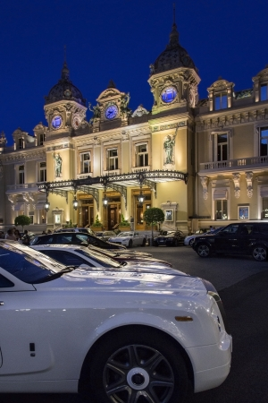 The Monte Carlo Casino in the Principality of Monaco, a sovereign city state, located on the French Riviera