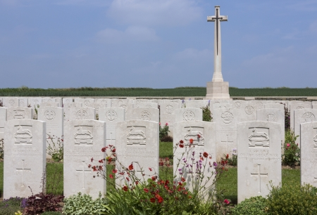 l first: The British Cemetery at Brie in the Vallee de la Somme in the Le Nord   Picardy region of France  The Battle of the Somme took place in the First World War between 1st July and 21st November 1916  Over 600,000 allied and 465,000 German troops lost there l Editorial