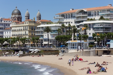 The resort of St Raphael on the Cornish de Esteral on the French Riviera in the South of France
