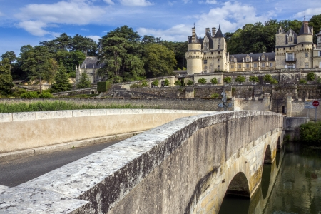 usse: The chateau of Usse in the Loire Valley in France