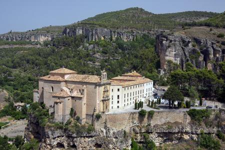 cuenca: Cuenca Monastery (now a hotel - Parador de Cuenca) in the city of Cuenca in the La Macha region of central Spain.