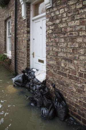 Flooding after the River Derwent burst its banks - Malton - United Kingdom
