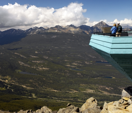 Mountain top lookout in Jasper National Park. Alberta, Canada Editorial