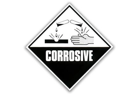 corrosive: Hazard Warning Sign - Corrosive substances
