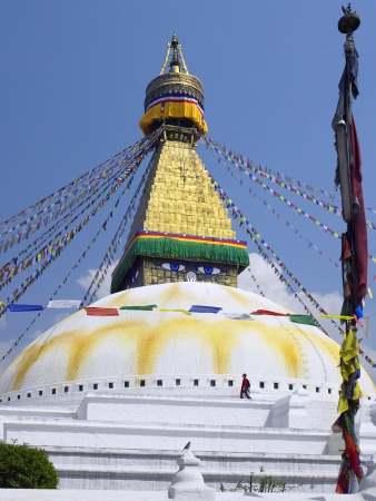Bouddhanath or Baudhanath or the Khasa Caitya, is one of the holiest Buddhist sites in Kathmandu in Nepal. It is a UNESCO World Heritage Site. Stock Photo - 22746333