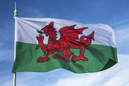cymru: The flag of Wales in the United Kingdom - The flag incorporates the Red Dragon of Cadwaladr, King of Gwynedd, along with the Tudor colours of green and white  It was officially recognised as the Welsh national flag in 1959