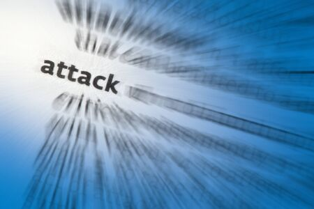 attacker: Attack -  To take aggressive action against a place or enemy forces, with weapons or armed force, typically in a battle or war
