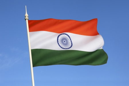 The National flag of India was adopted in its present form during a meeting of the Constituent Assembly held on 22 July 1947, when it became the official flag of the Dominion of India  The flag was subsequently retained as that of the Republic of India  Stock Photo