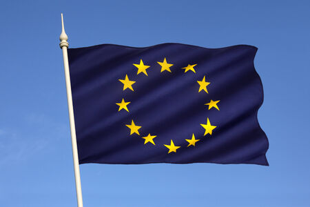 eurozone: The flag of Europe is the emblem of the Council of Europe and the European Union  It is also often used to indicate eurozone countries, and, more loosely, to represent the continent of Europe