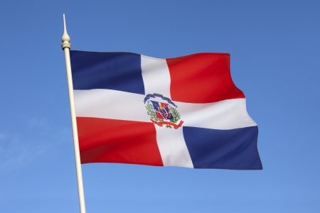 The national and state flag of the Dominican Republic
