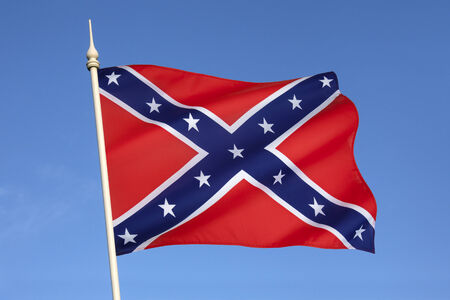 rebel flag: The Confederate Army battle flag  Despite never having historically represented the C S A  it is commonly referred to as the Confederate Flag and has become a widely recognized symbol of the South  It is also known as the rebel flag, Dixie flag, and South