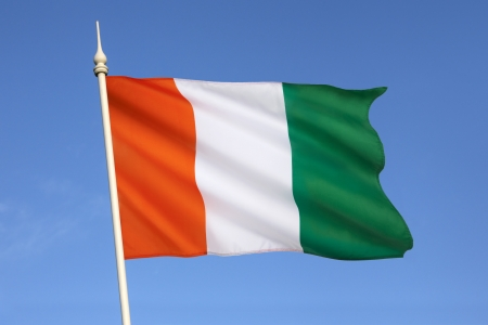 The flag of Ivory Coast or Cote d Ivoire photo